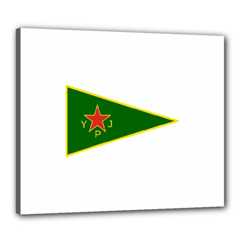 Flag Of The Women s Protection Units Canvas 24  X 20  by abbeyz71