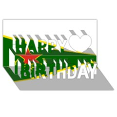 Flag Of The Women s Protection Units Happy Birthday 3d Greeting Card (8x4) by abbeyz71