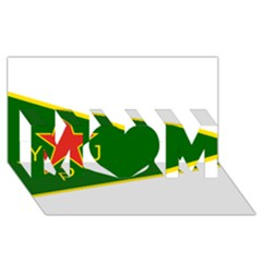 Flag Of The Women s Protection Units Mom 3d Greeting Card (8x4) by abbeyz71