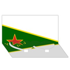 Flag Of The Women s Protection Units Twin Heart Bottom 3d Greeting Card (8x4) by abbeyz71