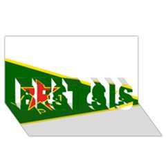 Flag Of The Women s Protection Units Best Sis 3d Greeting Card (8x4) by abbeyz71