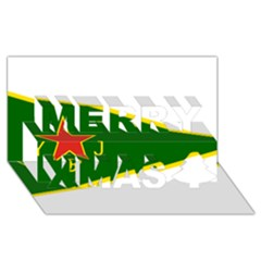Flag Of The Women s Protection Units Merry Xmas 3d Greeting Card (8x4) by abbeyz71
