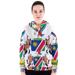 Coat Of Arms Of Namibia Women s Zipper Hoodie by abbeyz71