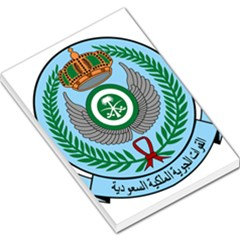 Emblem Of The Royal Saudi Air Force  Large Memo Pads by abbeyz71