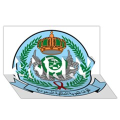 Emblem Of The Royal Saudi Air Force  Sorry 3d Greeting Card (8x4) by abbeyz71