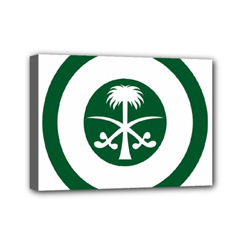 Roundel Of The Royal Saudi Air Force Mini Canvas 7  X 5