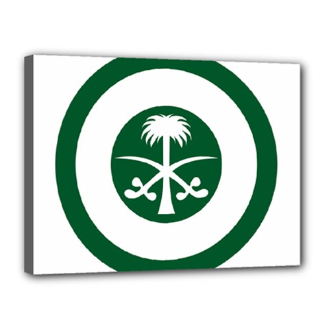 Roundel Of The Royal Saudi Air Force Canvas 16  X 12