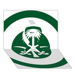 Roundel Of The Royal Saudi Air Force Ribbon 3d Greeting Card (7x5) by abbeyz71
