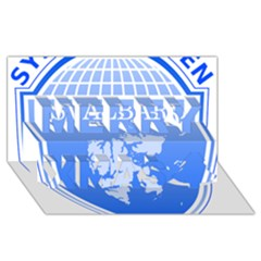 Coat Of Arms Of Svalbard Merry Xmas 3d Greeting Card (8x4) by abbeyz71