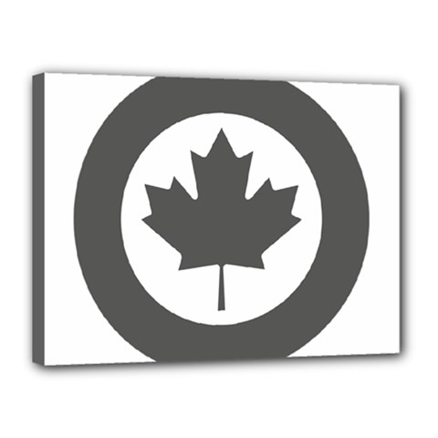Low Visibility Roundel Of The Royal Canadian Air Force Canvas 16  X 12