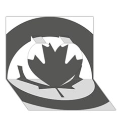 Low Visibility Roundel Of The Royal Canadian Air Force Heart 3d Greeting Card (7x5) by abbeyz71