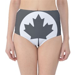 Low Visibility Roundel Of The Royal Canadian Air Force High Waist Bikini Bottoms