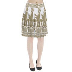 Stylized Faravahar  Pleated Skirt
