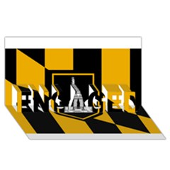 Flag Of Baltimore Engaged 3d Greeting Card (8x4) by abbeyz71