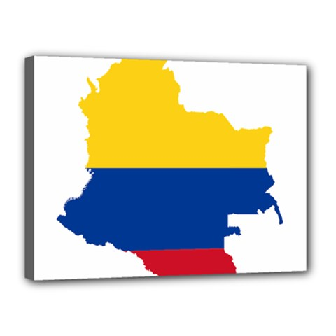 Flag Map Of Colombia Canvas 16  X 12  by abbeyz71