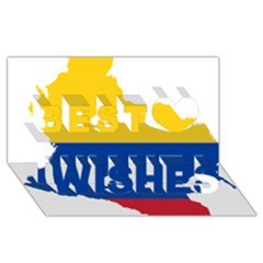 Flag Map Of Colombia Best Wish 3d Greeting Card (8x4) by abbeyz71