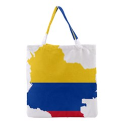 Flag Map Of Colombia Grocery Tote Bag
