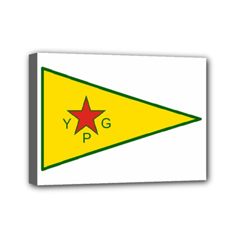 Flag Of The People s Protection Units Mini Canvas 7  X 5  by abbeyz71