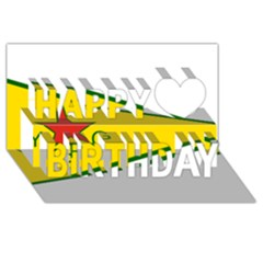Flag Of The People s Protection Units Happy Birthday 3d Greeting Card (8x4) by abbeyz71