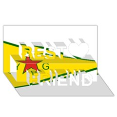 Flag Of The People s Protection Units Best Friends 3d Greeting Card (8x4) by abbeyz71