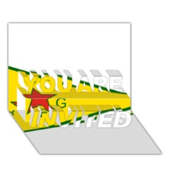 Flag Of The People s Protection Units You Are Invited 3d Greeting Card (7x5) by abbeyz71