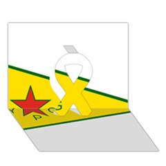 Flag Of The People s Protection Units Ribbon 3d Greeting Card (7x5) by abbeyz71