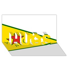 Flag Of The People s Protection Units Hugs 3d Greeting Card (8x4) by abbeyz71