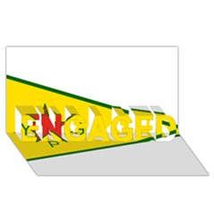 Flag Of The People s Protection Units Engaged 3d Greeting Card (8x4) by abbeyz71