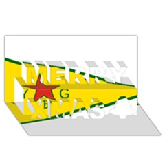 Flag Of The People s Protection Units Merry Xmas 3d Greeting Card (8x4) by abbeyz71