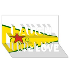 Flag Of The People s Protection Units Laugh Live Love 3d Greeting Card (8x4) by abbeyz71