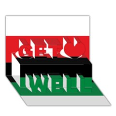 Pan African Flag  Get Well 3d Greeting Card (7x5)
