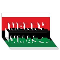 Pan African Flag  Merry Xmas 3d Greeting Card (8x4) by abbeyz71