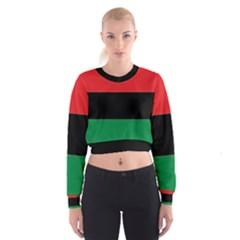 Pan African Flag  Women s Cropped Sweatshirt by abbeyz71