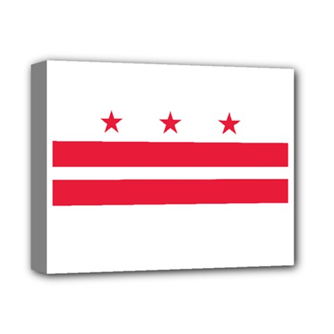 Flag Of Washington, Dc  Deluxe Canvas 14  X 11  by abbeyz71
