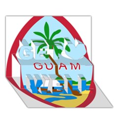 Seal Of Guam Get Well 3d Greeting Card (7x5)