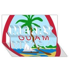 Seal Of Guam Merry Xmas 3D Greeting Card (8x4) by abbeyz71