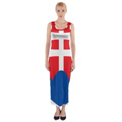 Slovak Air Force Roundel Fitted Maxi Dress by abbeyz71