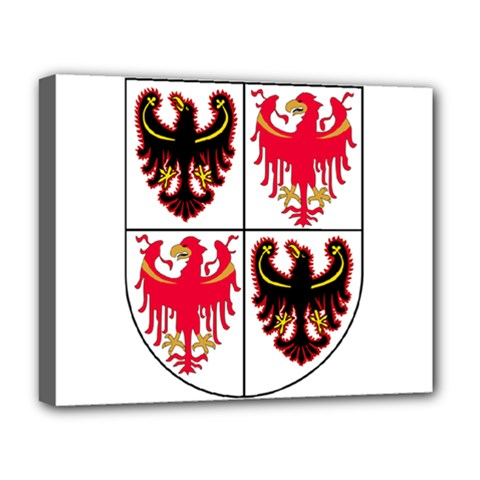Coat Of Arms Of Trentino Alto Adige Sudtirol Region Of Italy Deluxe Canvas 20  X 16   by abbeyz71