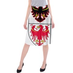 Coat Of Arms Of Trentino Alto Adige Sudtirol Region Of Italy Midi Beach Skirt