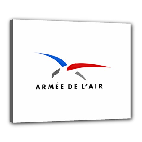 Logo Of The French Air Force  Canvas 20  X 16  by abbeyz71