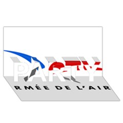 Logo Of The French Air Force  Party 3d Greeting Card (8x4)
