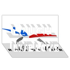 Logo Of The French Air Force  Laugh Live Love 3d Greeting Card (8x4)