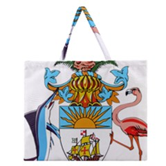 Coat Of Arms Of The Bahamas Zipper Large Tote Bag by abbeyz71