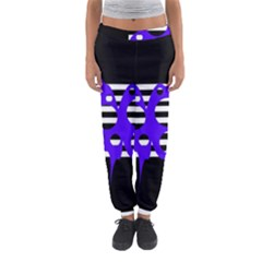 Blue Abstract Design Women s Jogger Sweatpants by Valentinaart