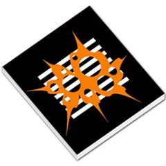 Orange Abstract Design Small Memo Pads