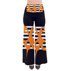Orange Abstract Design Pants by Valentinaart