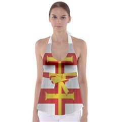 Flag Of Guernsey Babydoll Tankini Top by artpics