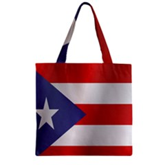 Flag Of Puerto Rico Zipper Grocery Tote Bag by artpics