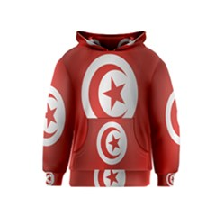 Flag Of Tunisia Kids  Pullover Hoodie by artpics