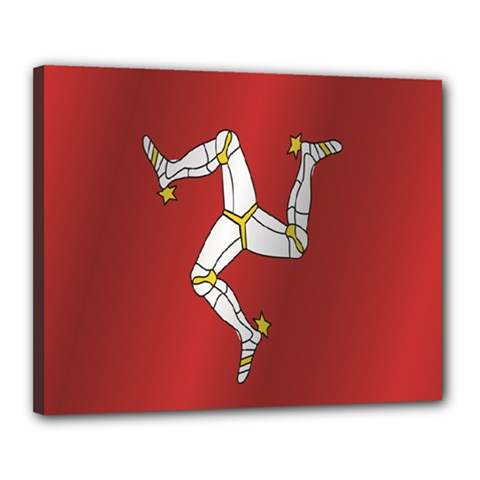 Flag Of Isle Of Man Canvas 20  x 16  by artpics